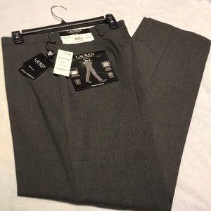 Ralph Lauren Gray Total Stretch Slim-Fit Pants